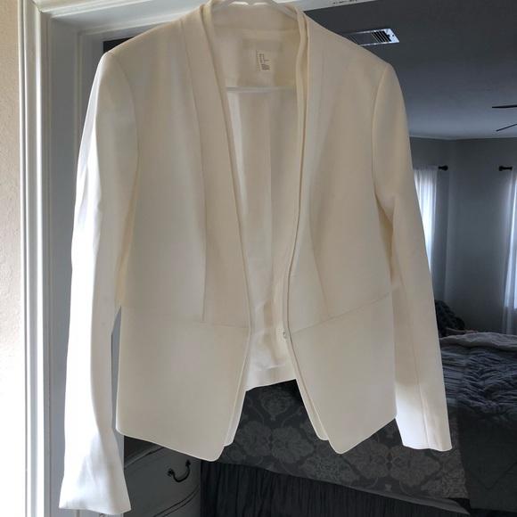 a26e3ba50830 H M Jackets   Blazers - Women s White Blazer